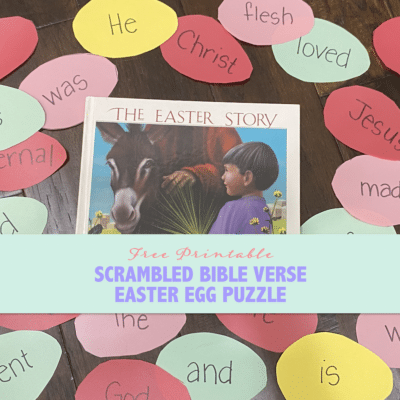 Scrambled Bible Verse Easter Egg Puzzles