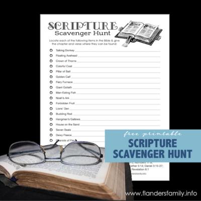 Free Printable Scripture Scavenger Hunt
