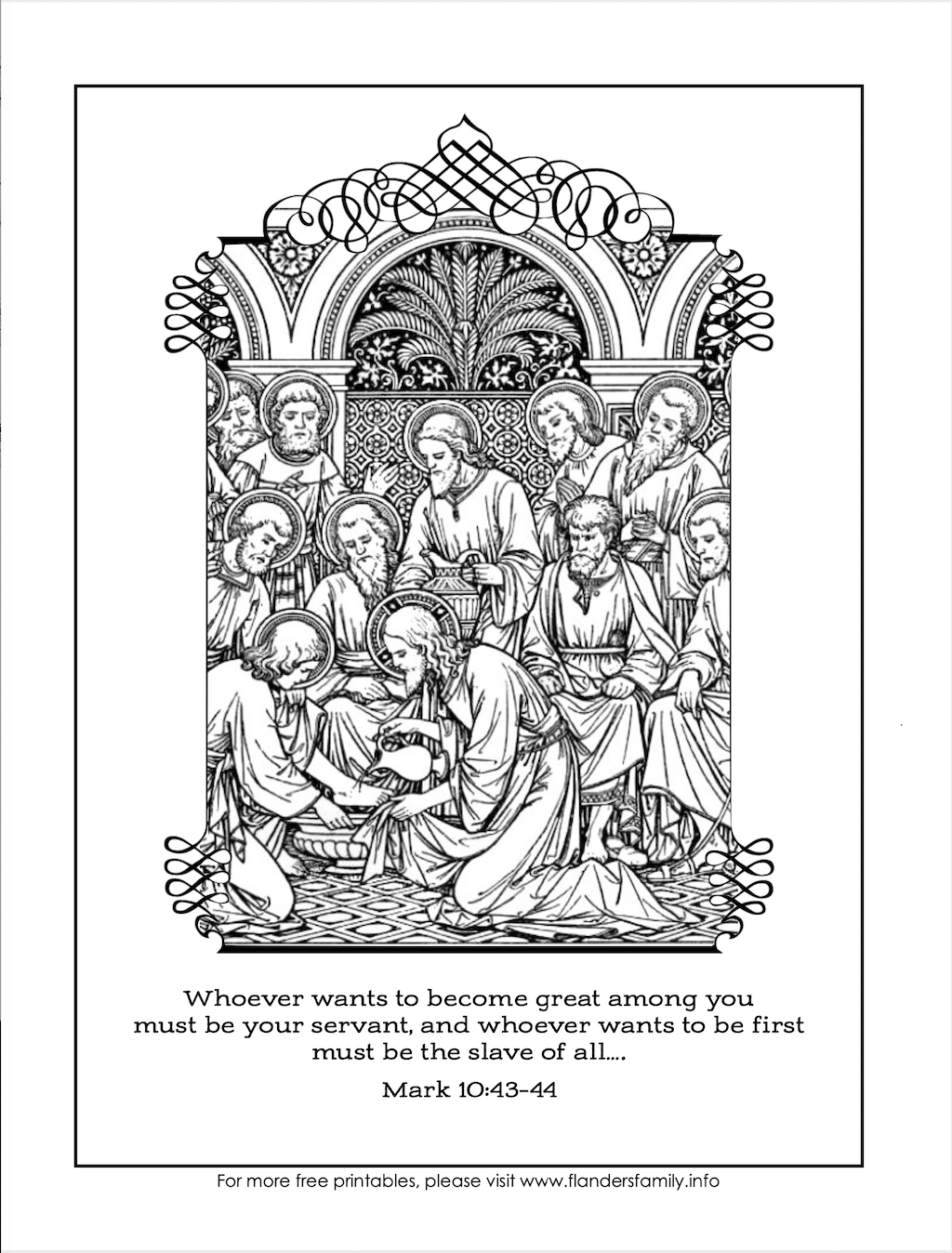 Servant of All Coloring Page -