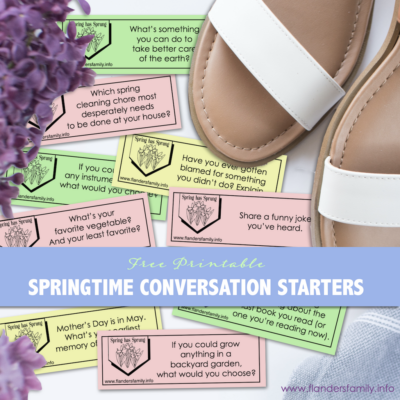 Free Printable Discussion Prompts for Spring