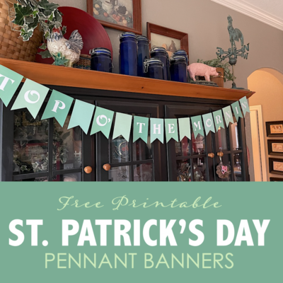 St. Patrick's Day Pennant Banners
