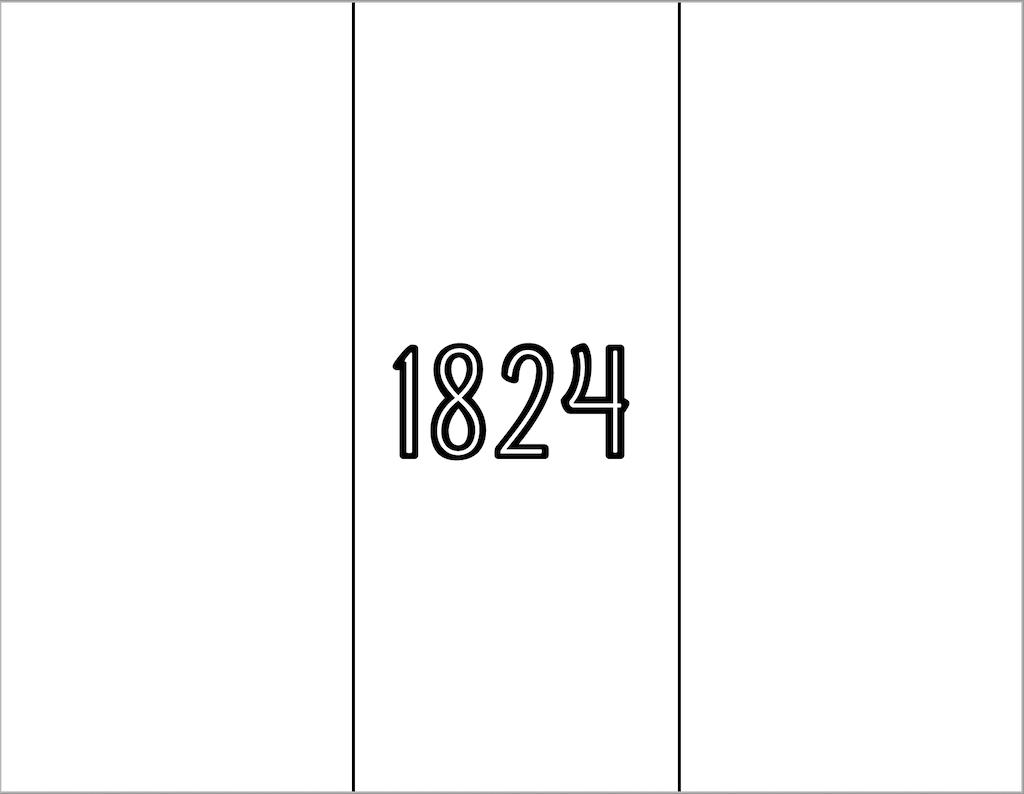 Texas 1824 Flag