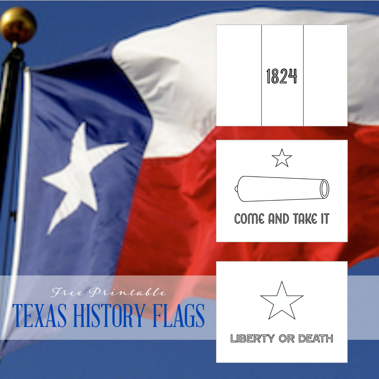 Flags of Texas Coloring Pages