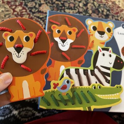 Wooden Lacing Zoo Animals (Timberdoodle Review)