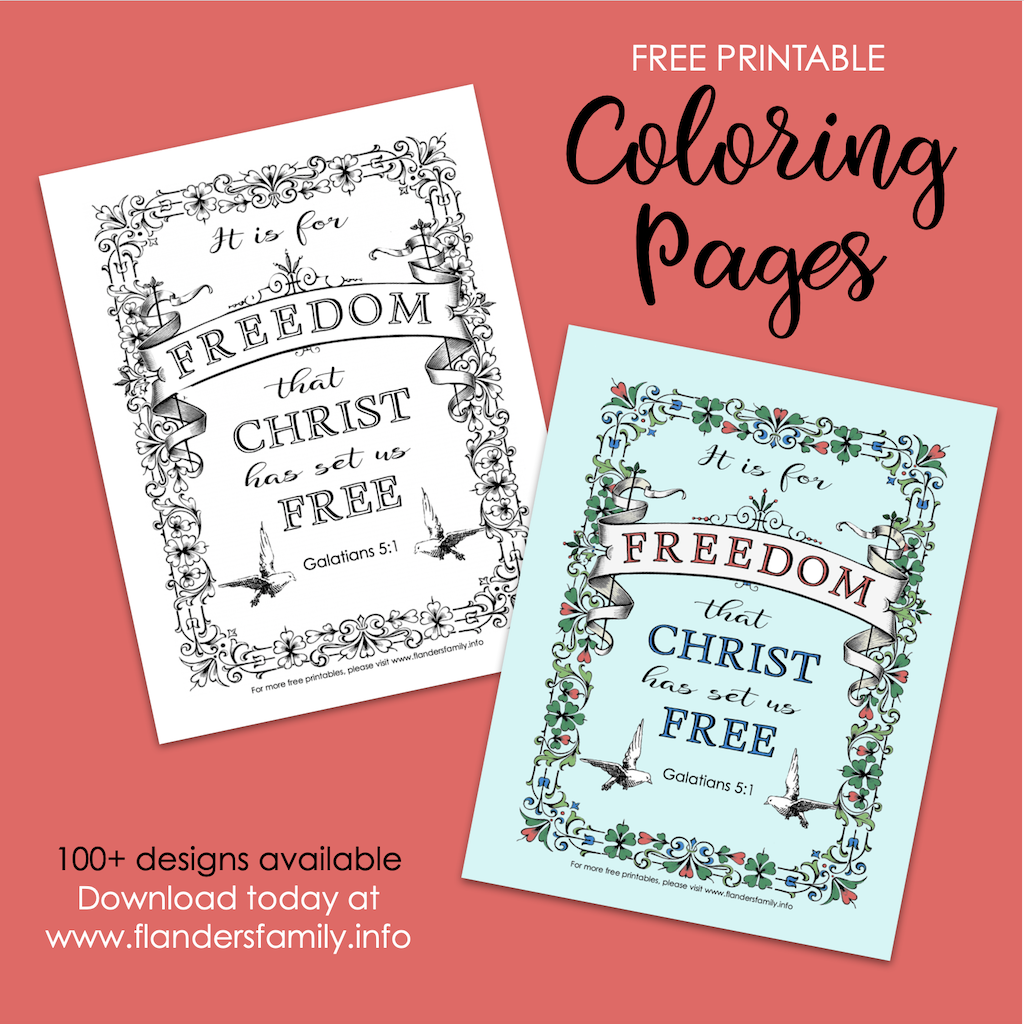 Christ Set Us Free Coloring Page