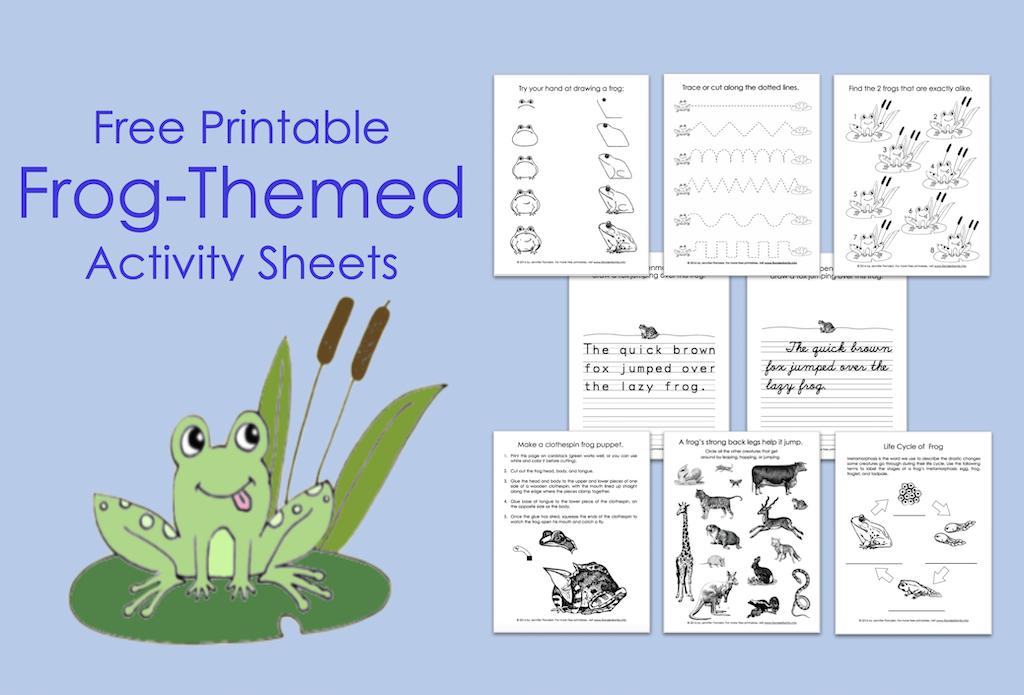 FREE Frog-Themed Printables