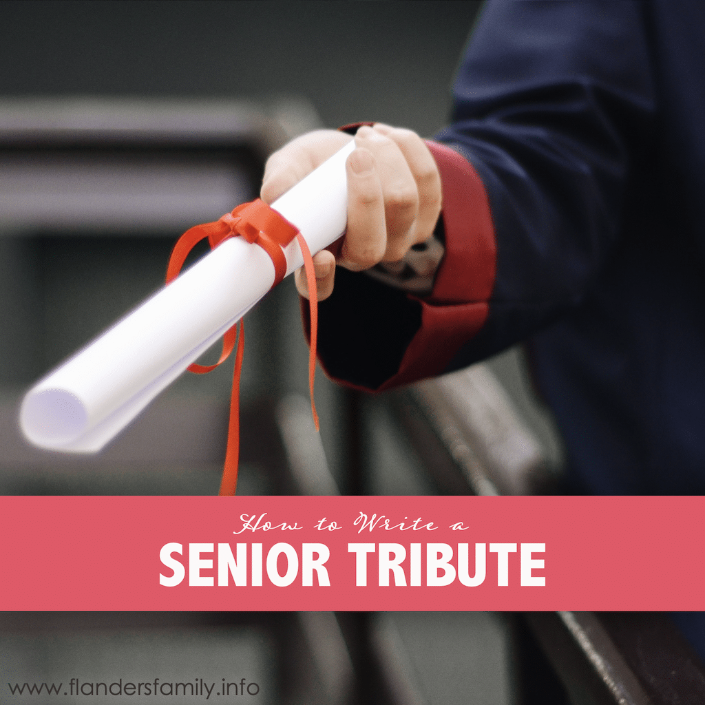 How to Write a Senior Tribute