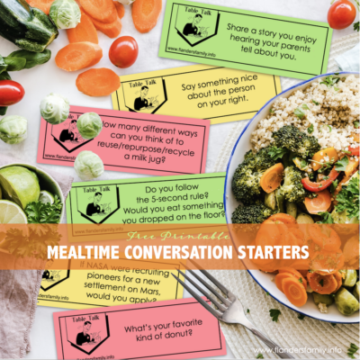 More Mealtime Conversation Starters