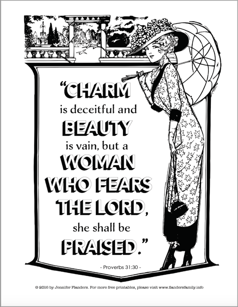Godly Woman Coloring Page