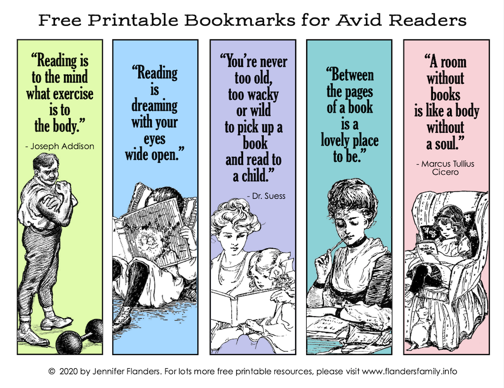 Free Printable Bookmarks - Color