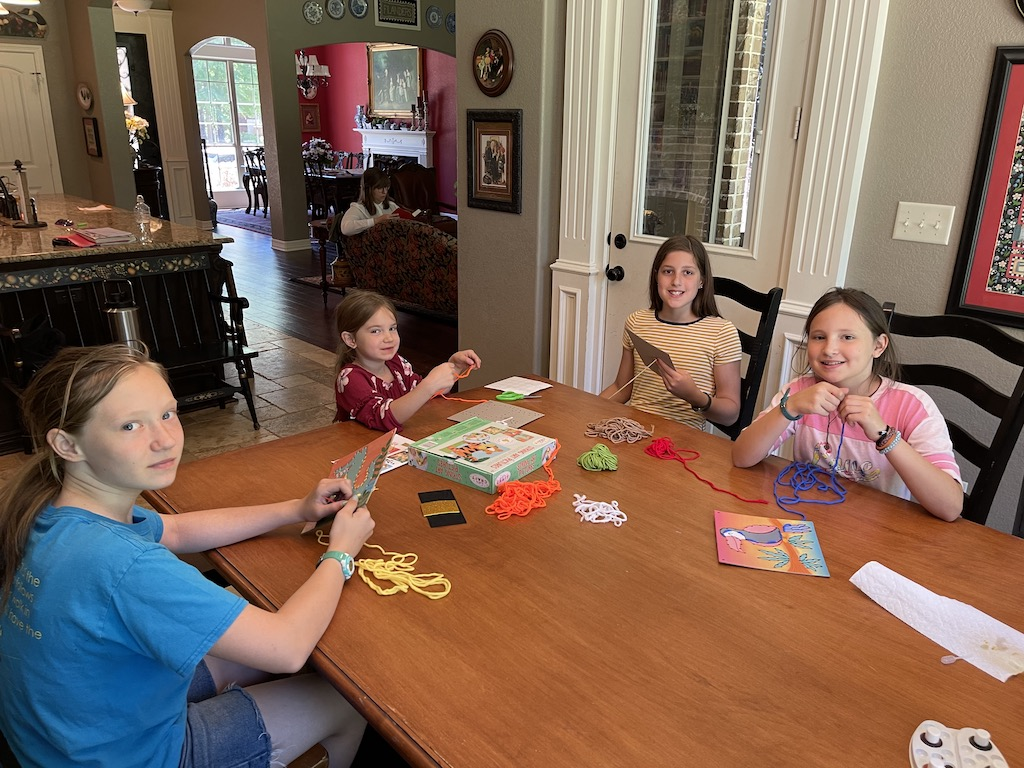 craft time with friends