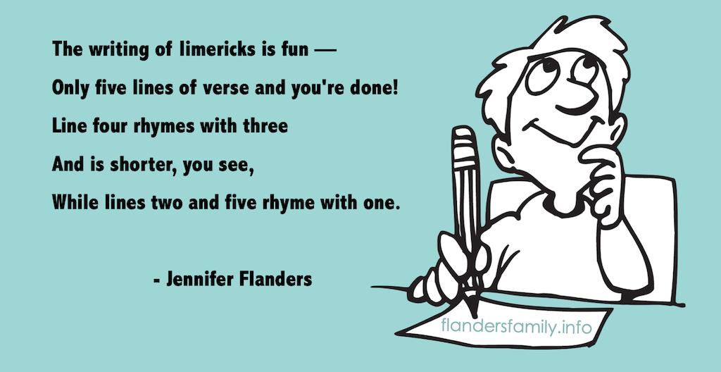 A Limerick about Writing Limericks