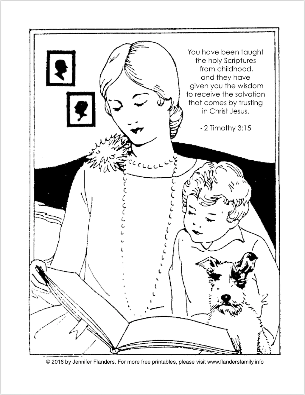 Taught from Childhood Coloring Page