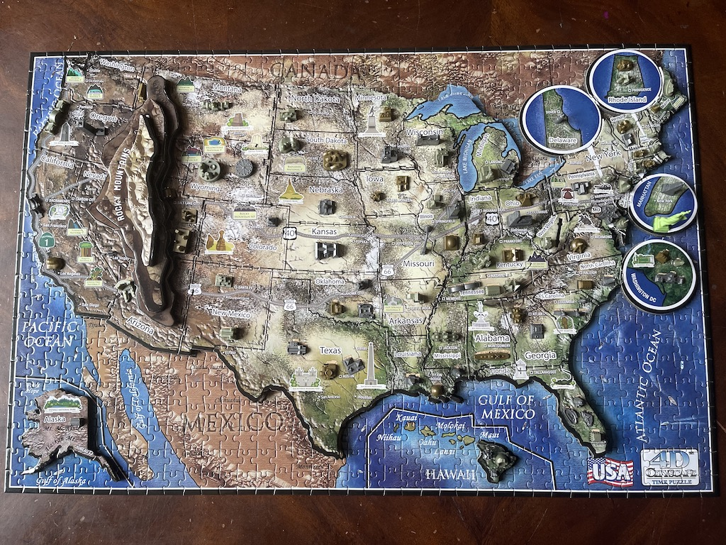 USA History over Time Puzzle - Top Layer