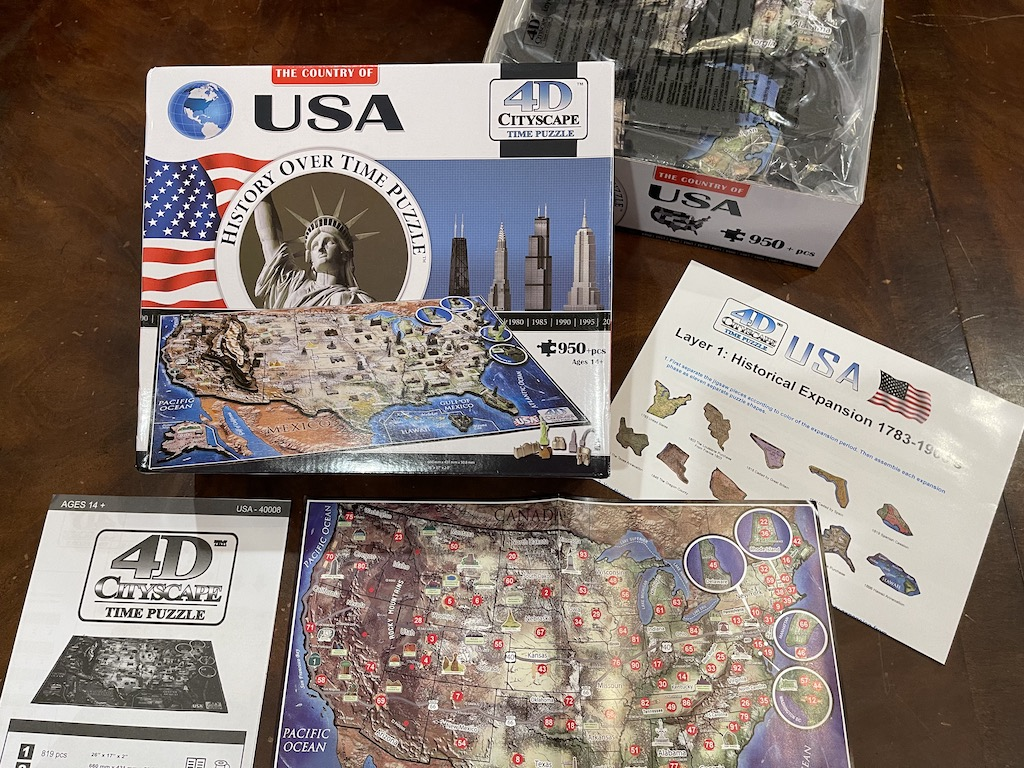 USA History over Time Puzzle Contents