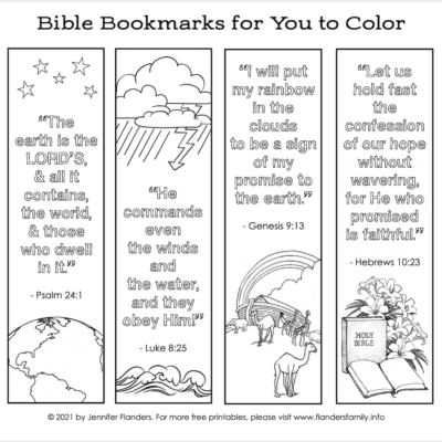 Color-Your-Own Bible Bookmarks