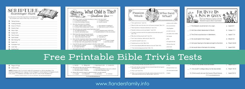 Bible Trivia Tests