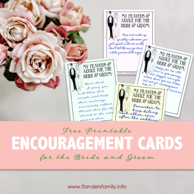 Free Printable Encouragement Cards for Couples