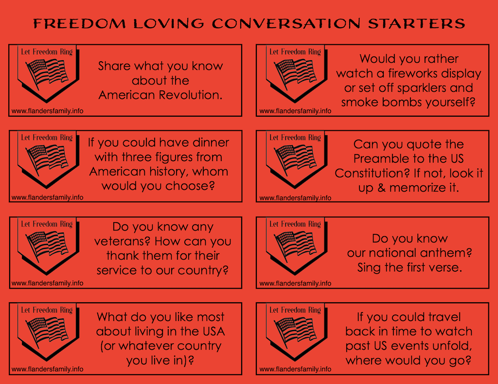 Free printable discussion prompts for families -