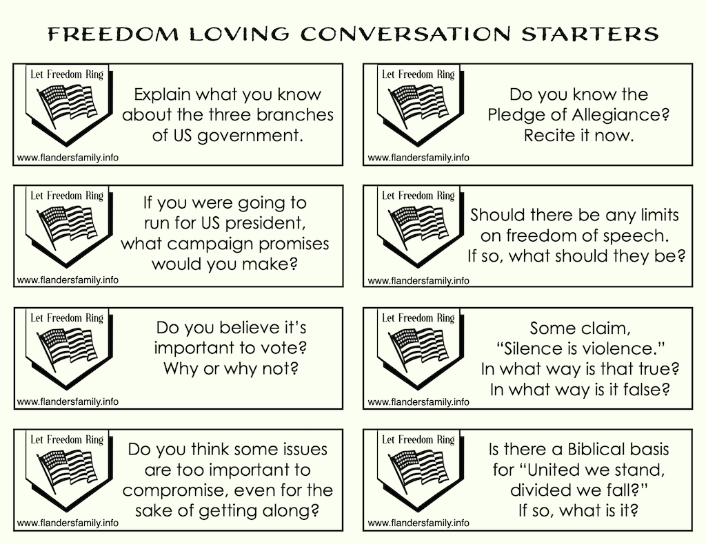 Free printable discussion prompts for families