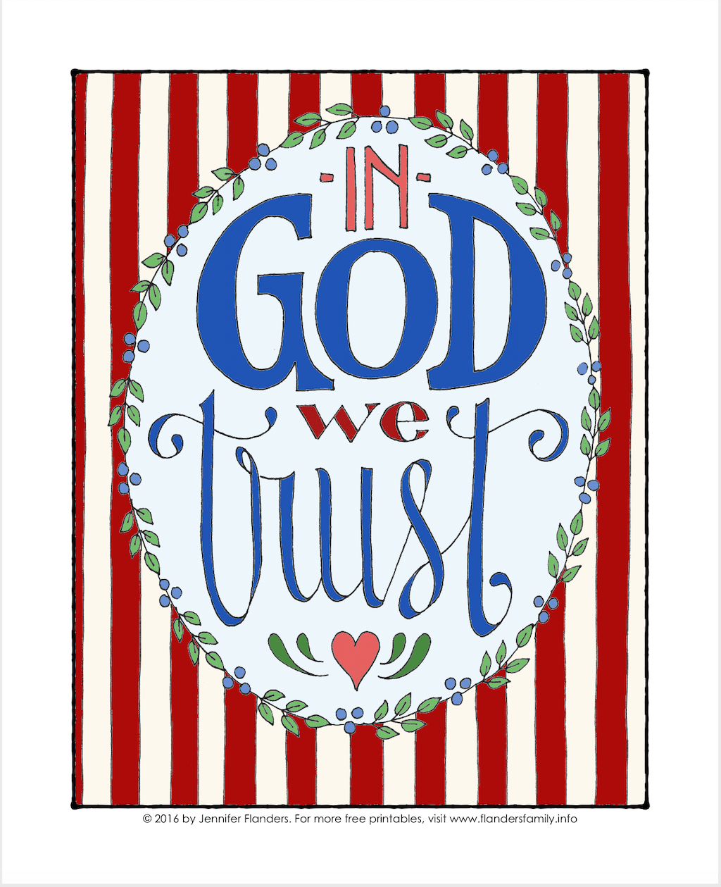 In God We Trust Coloring Page
