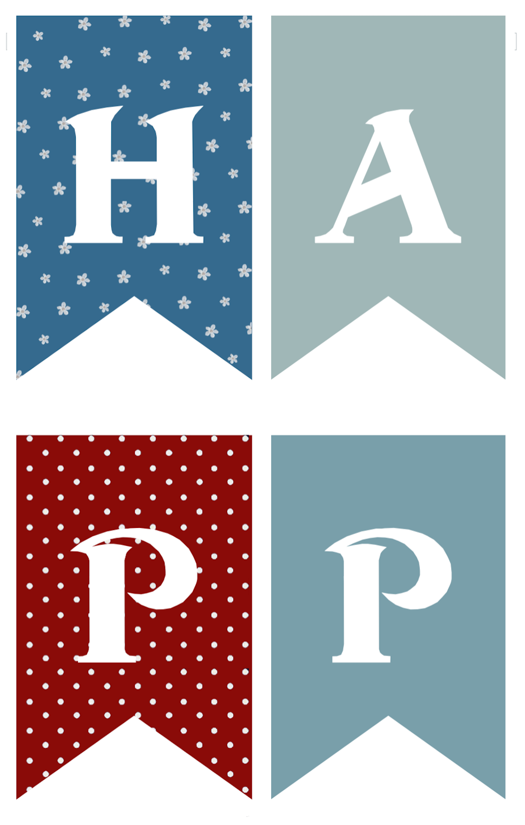 Independence Day Banners - Half-Sized Pennants