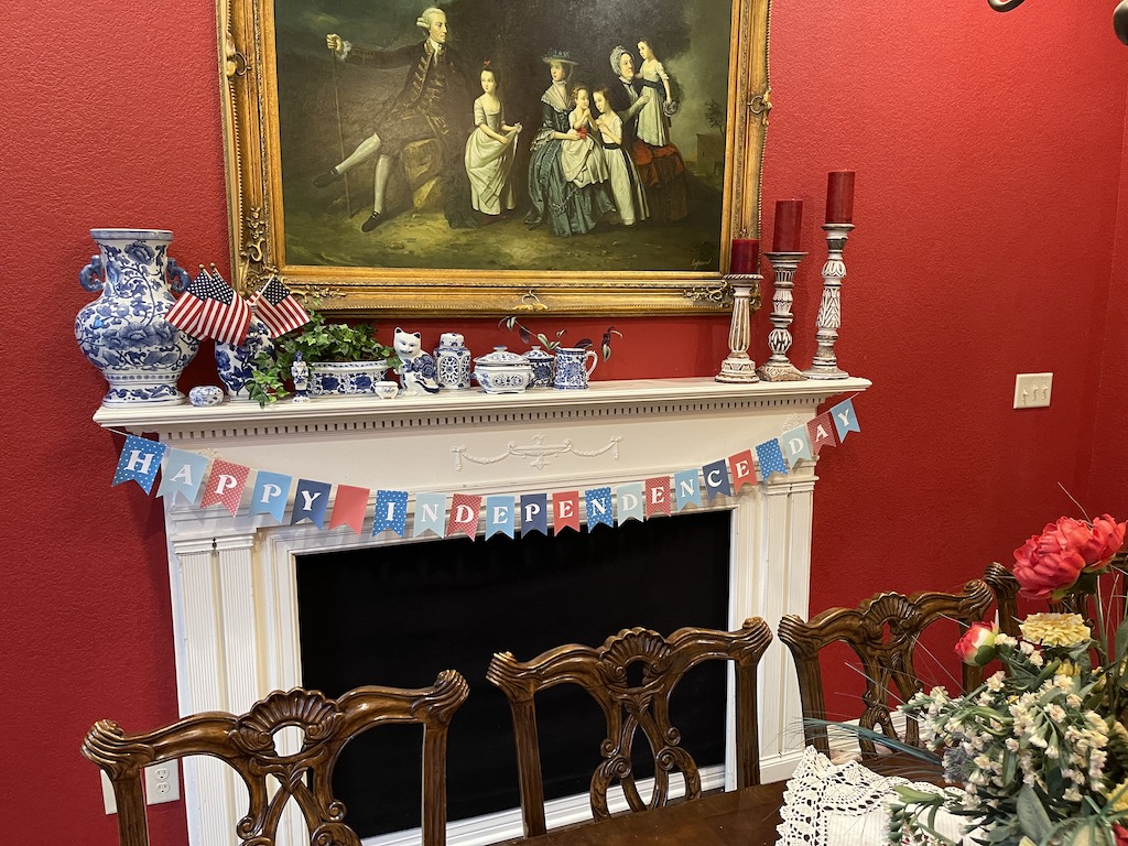 Fourth of July Mantle - FB