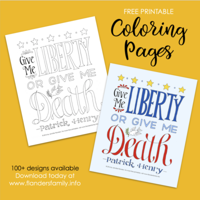Liberty or Death Coloring Page