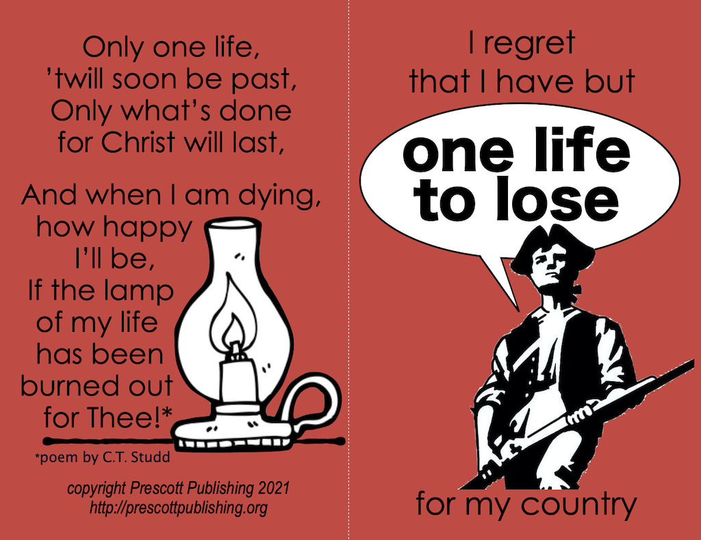 One Life to Lose Tract