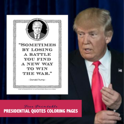 President Trump Quote Coloring Page