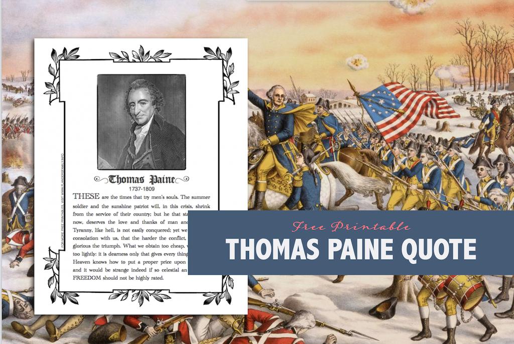 Thomas Paine Printable