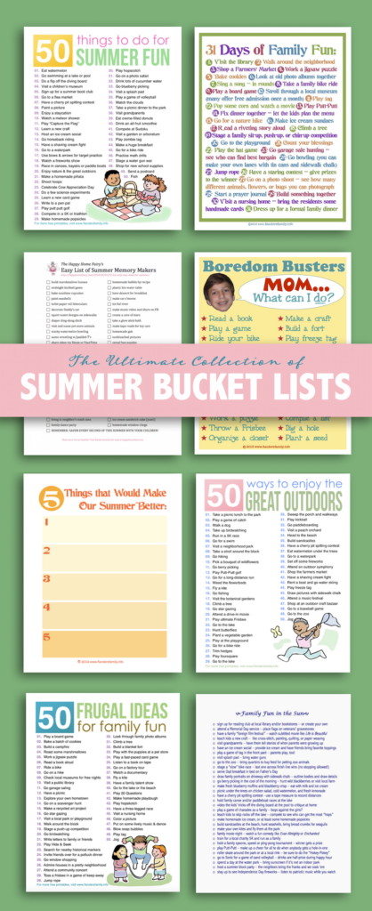 Ultimate Collection of Summer Bucket Lists