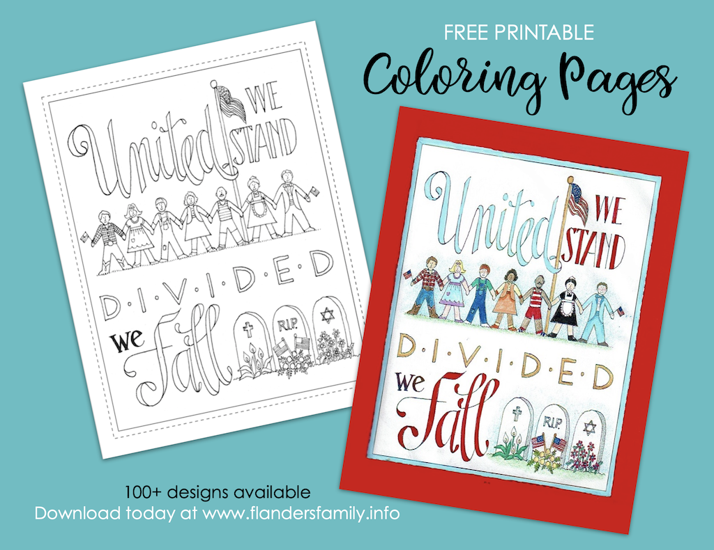 United We Stand Coloring Page