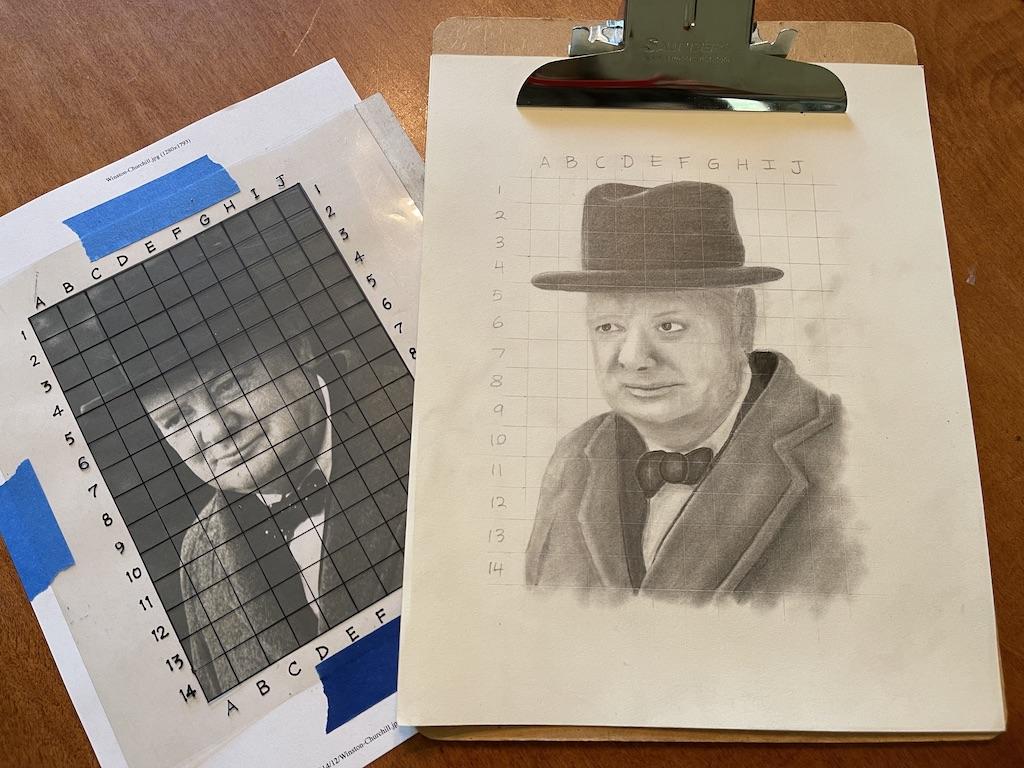 Gabriel's Artwork (Winston Churchill)
