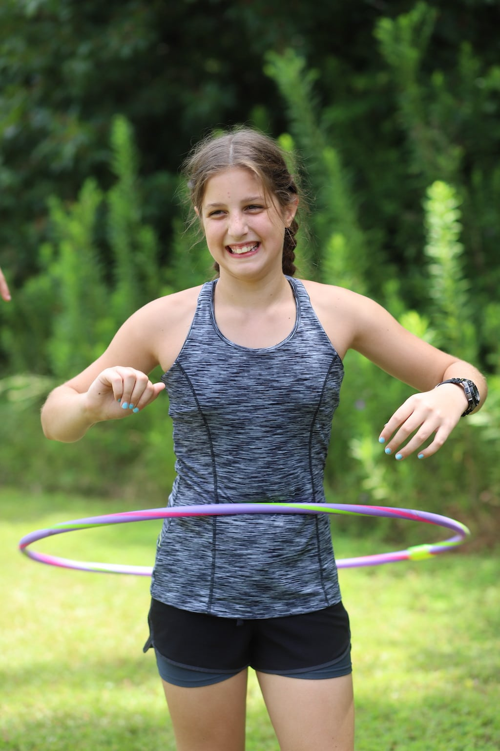 Family Olympic Hula Hoop Contest