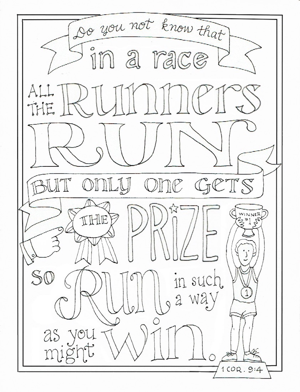 Run to Win Coloring Page