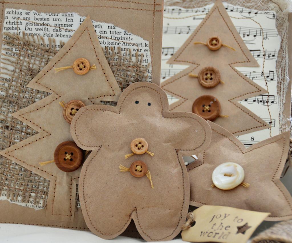 Paper Bag Christmas Tags