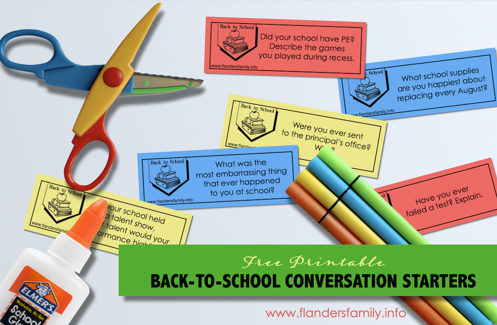 Smart Ways to Celebrate Starting Back to School - Free Printable Discussion Prompts for Families