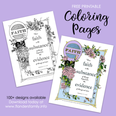 Faith as Evidence Coloring Page