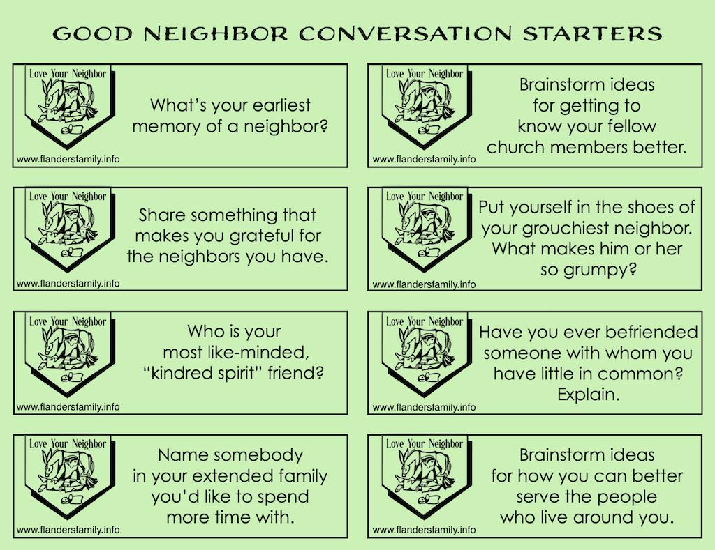 Good Neighbor Conversation Starters
