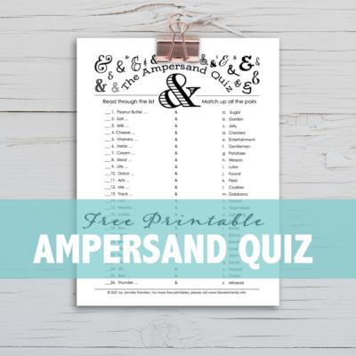 Ampersand Quiz