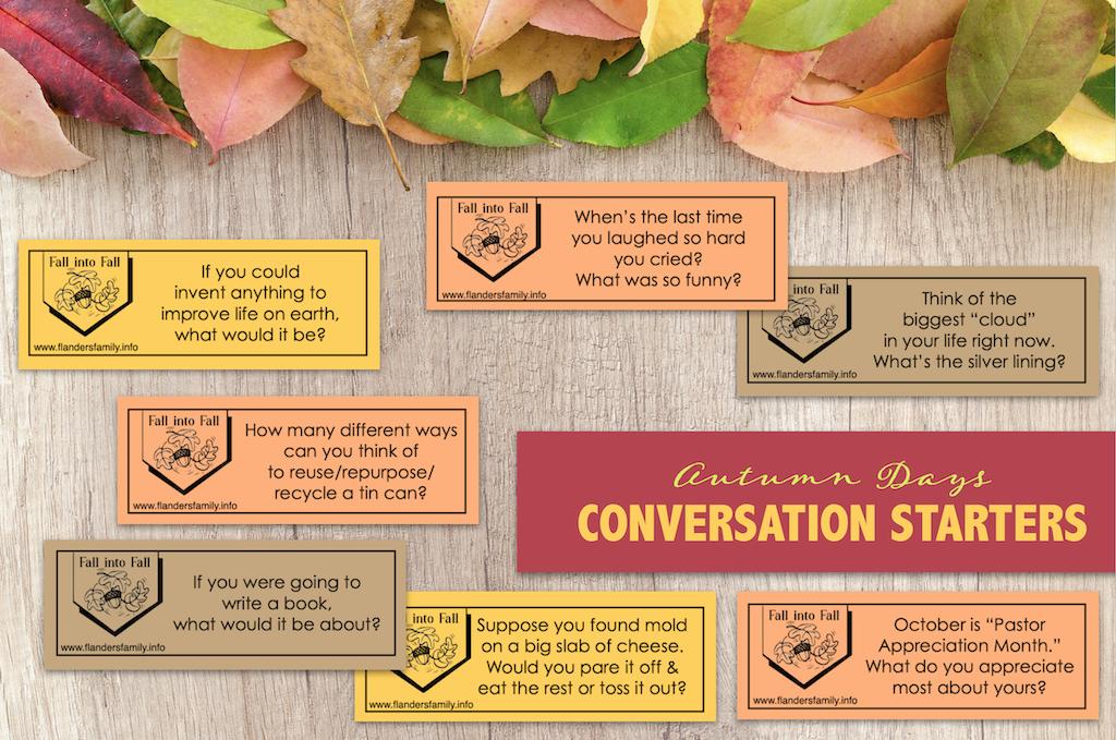 Autumn Days Conversation Starters