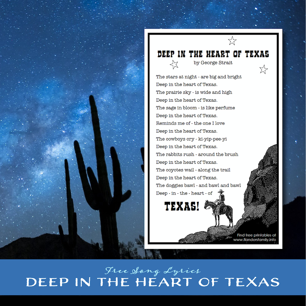 Deep in the Heart of Texas  Song Lyrics