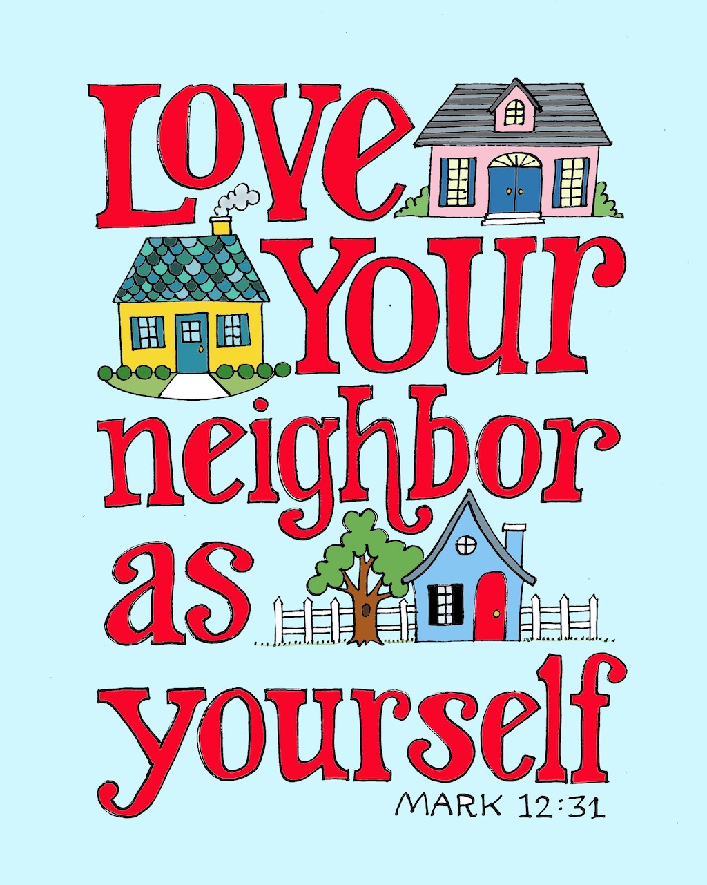 Love Your Neighbor Coloring Page