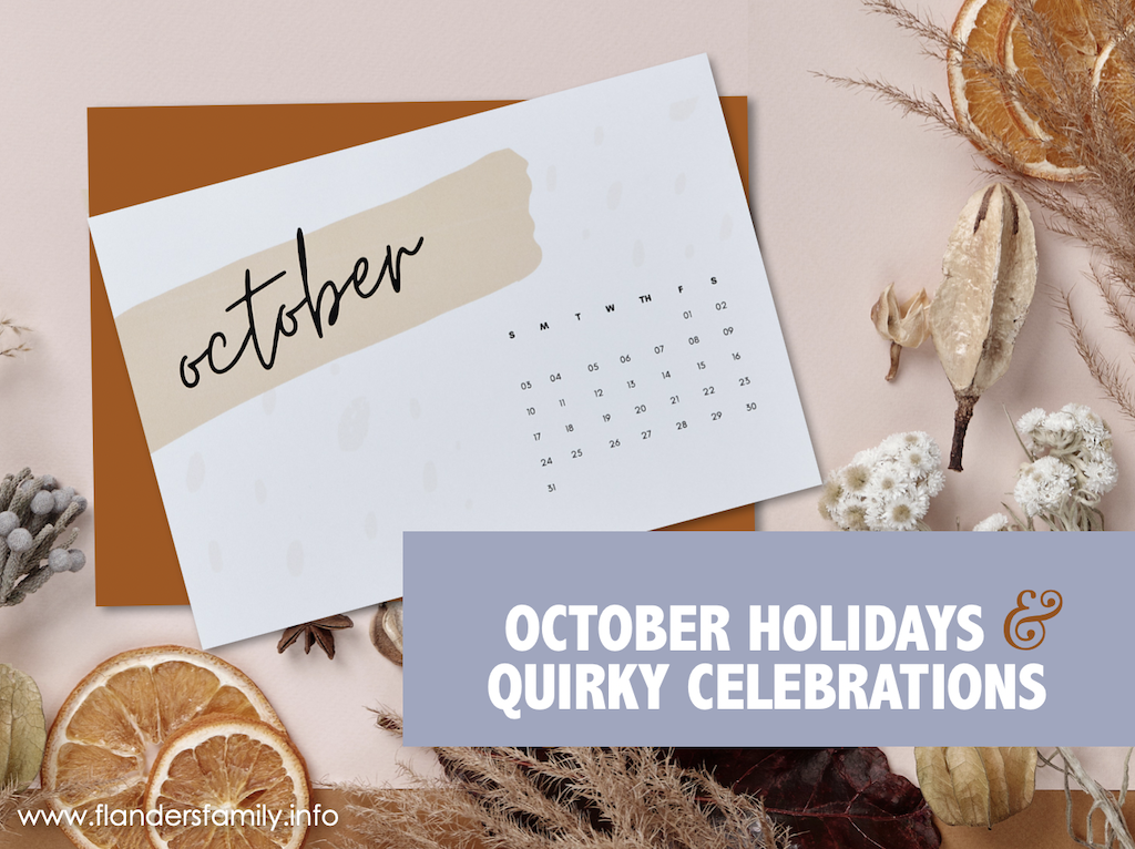 October Holidays & Quirky Celebrations