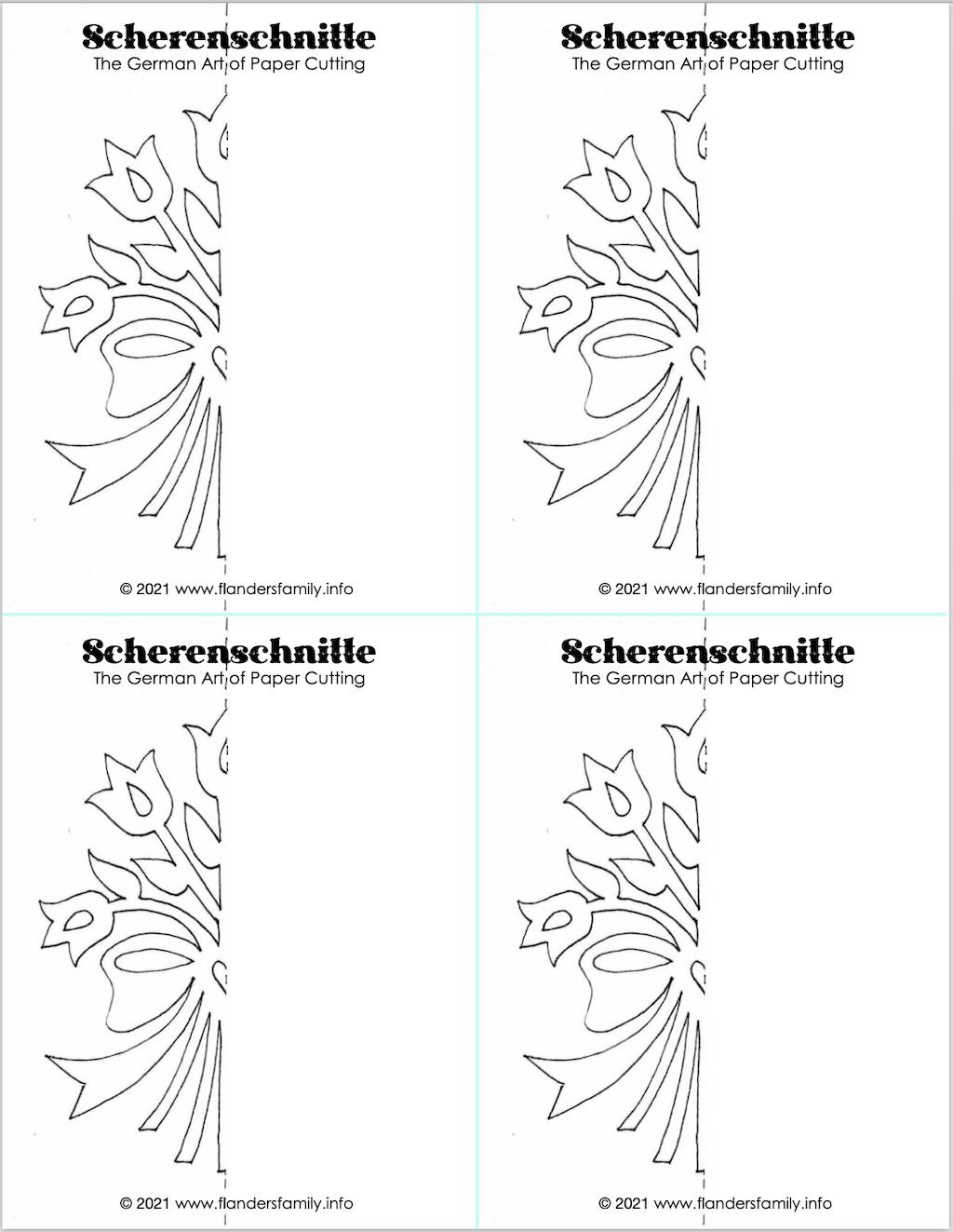 Super Simple Scherenschnitte - Bouquet
