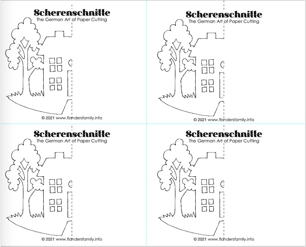 Super Simple Scherenschnitte - House