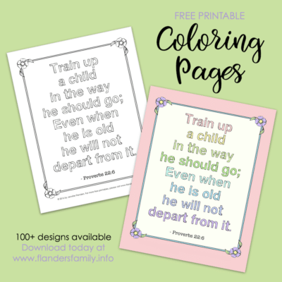 Train Up a Child Coloring Page