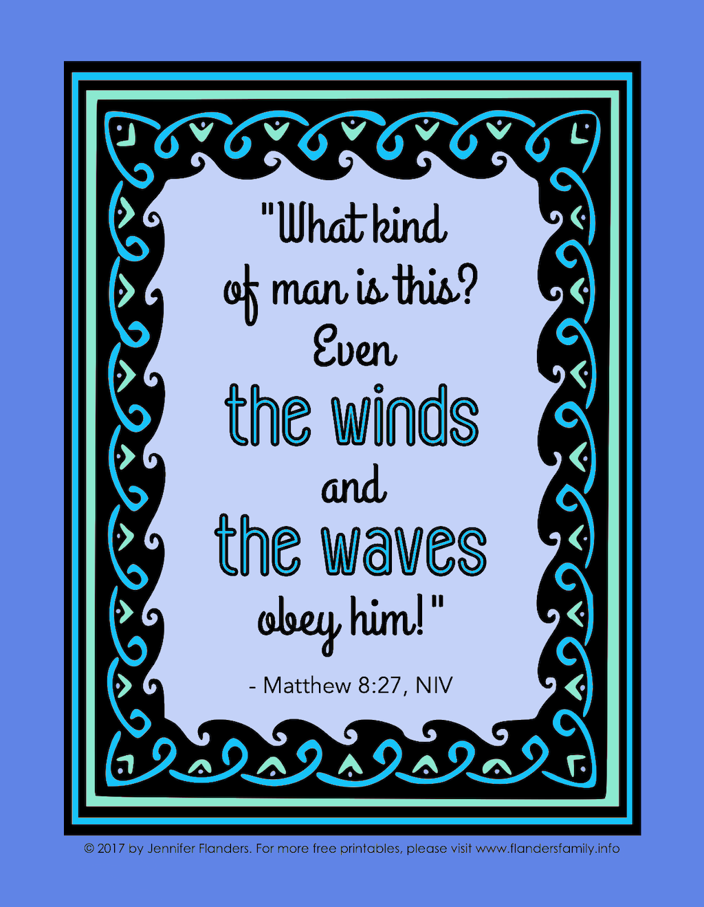 Wind and Waves Coloring Page