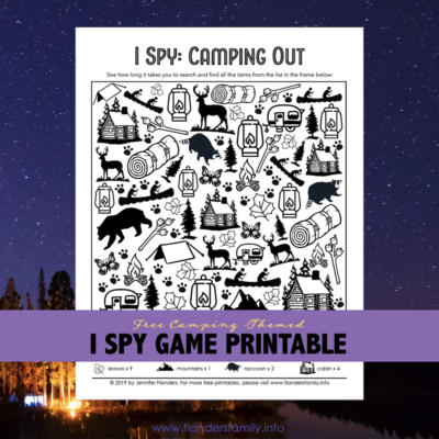Camping Themed I Spy Game